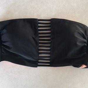 Strappy bandeau bikini top